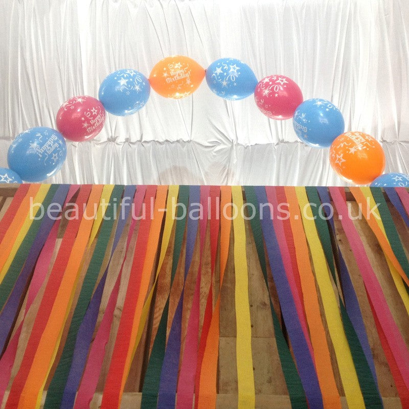 "12"" 'Happy Birthday' Latex Balloon Arch-Garland - Ideal for Birthday Parties!"