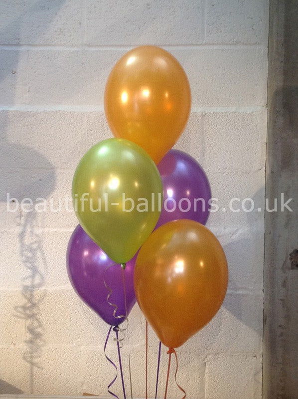 Halloween Shade Range Pearlised Latex Balloons (Helium Quality)