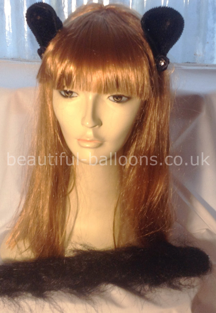 Cat Kit - Clip on Cat Ears & Tail - Perfect for Halloween