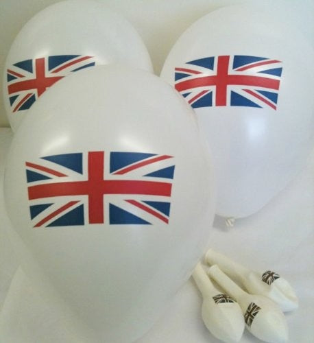 Standard Union Jack Flag Printed Latex Balloons