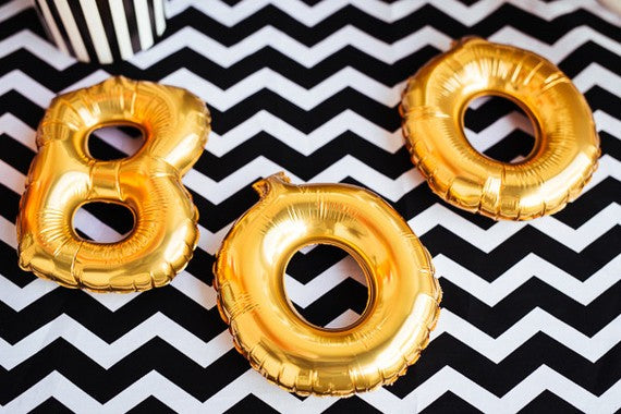 "Gold 'BOO' 16"" Foil Letters Garland"