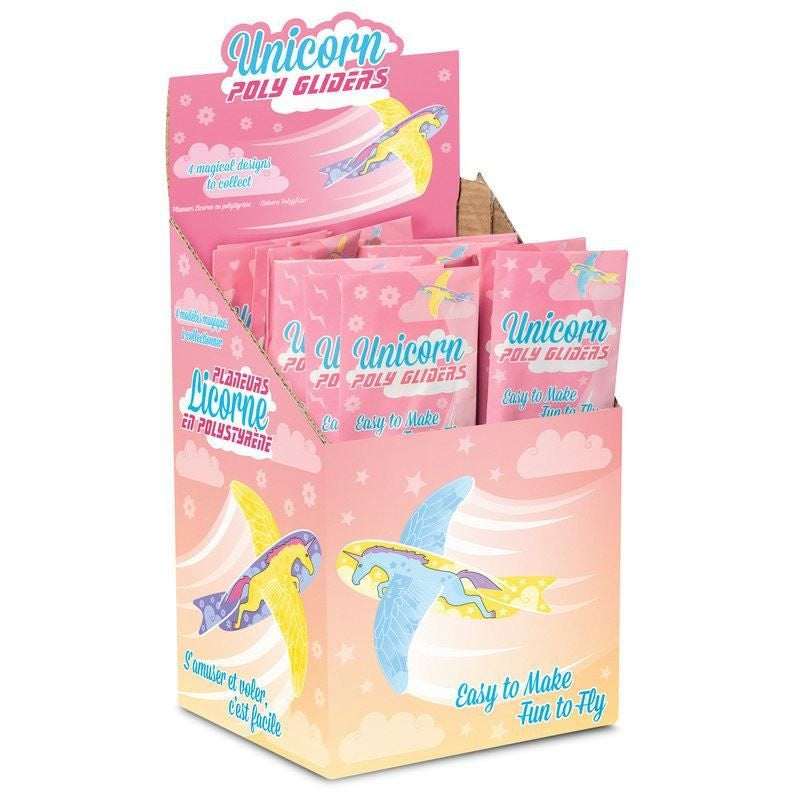 Unicorn poly gliders - pack of 10