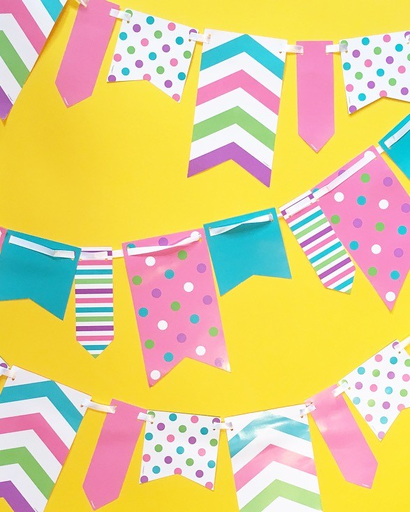 10ft Spot and Stripe Reversible Flag Bunting