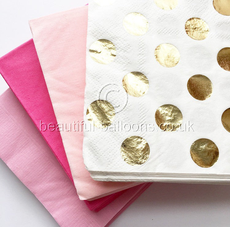 76 x Flamingo Shade Paper Napkins