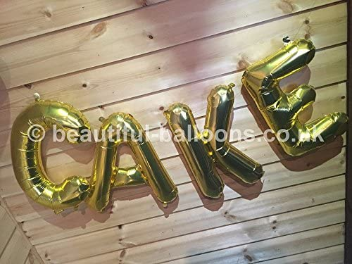"Gold 'CAKE' 16"" Foil Letters Garland"