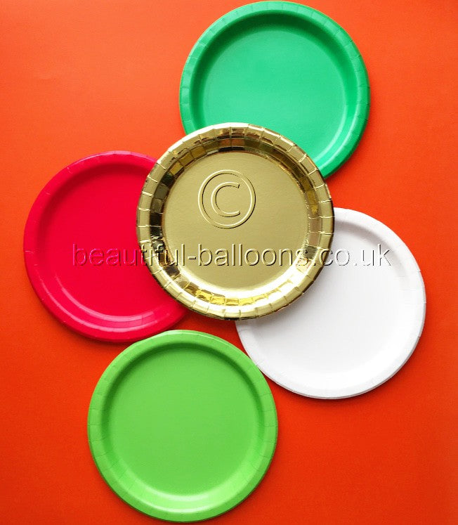 "40 x Christmas Shade 9"" Paper Plates"