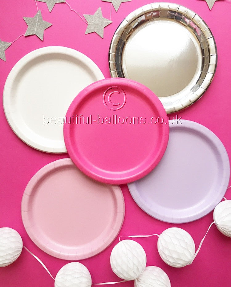 40 x Baby Shower Party Plates for Girls