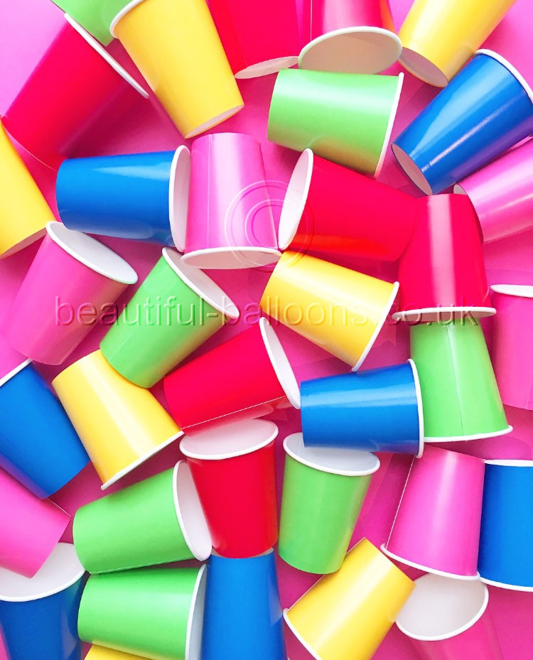 35 x Rainbow Paper Party Cups - Rainbow Themed-Parties! Gay Pride!