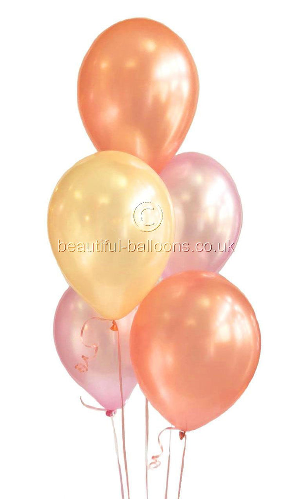 Rose Gold Ombre Shades Latex Balloons