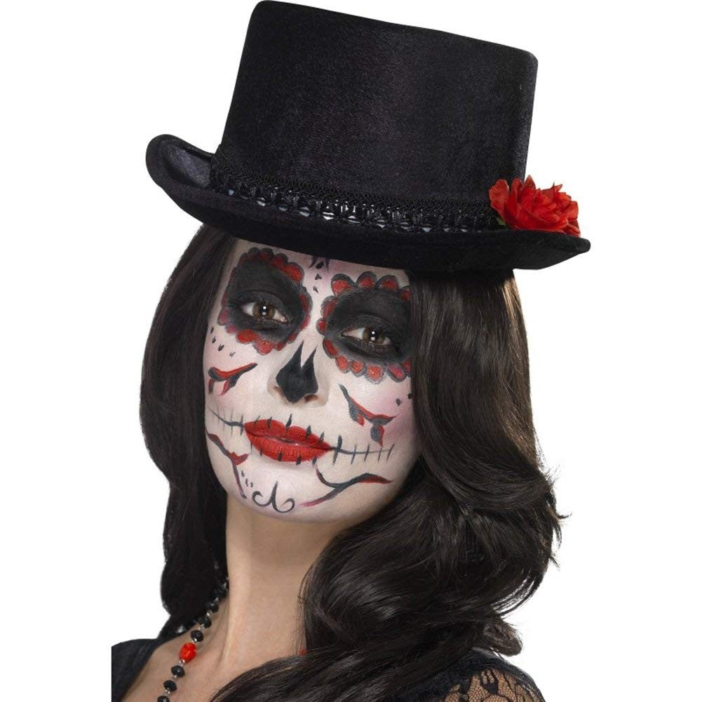 Day of the Dead Unisex Top Hat with roses