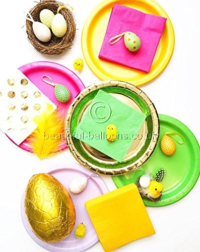Bright Easter Party Kit - Plates, Napkins & Cups!