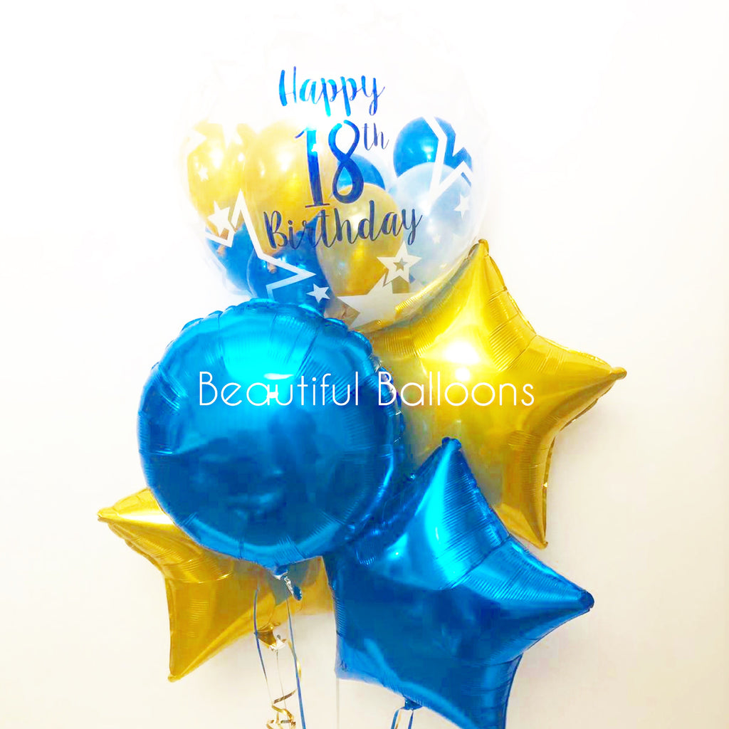 Personalised 18th Birthday Balloon Bunch