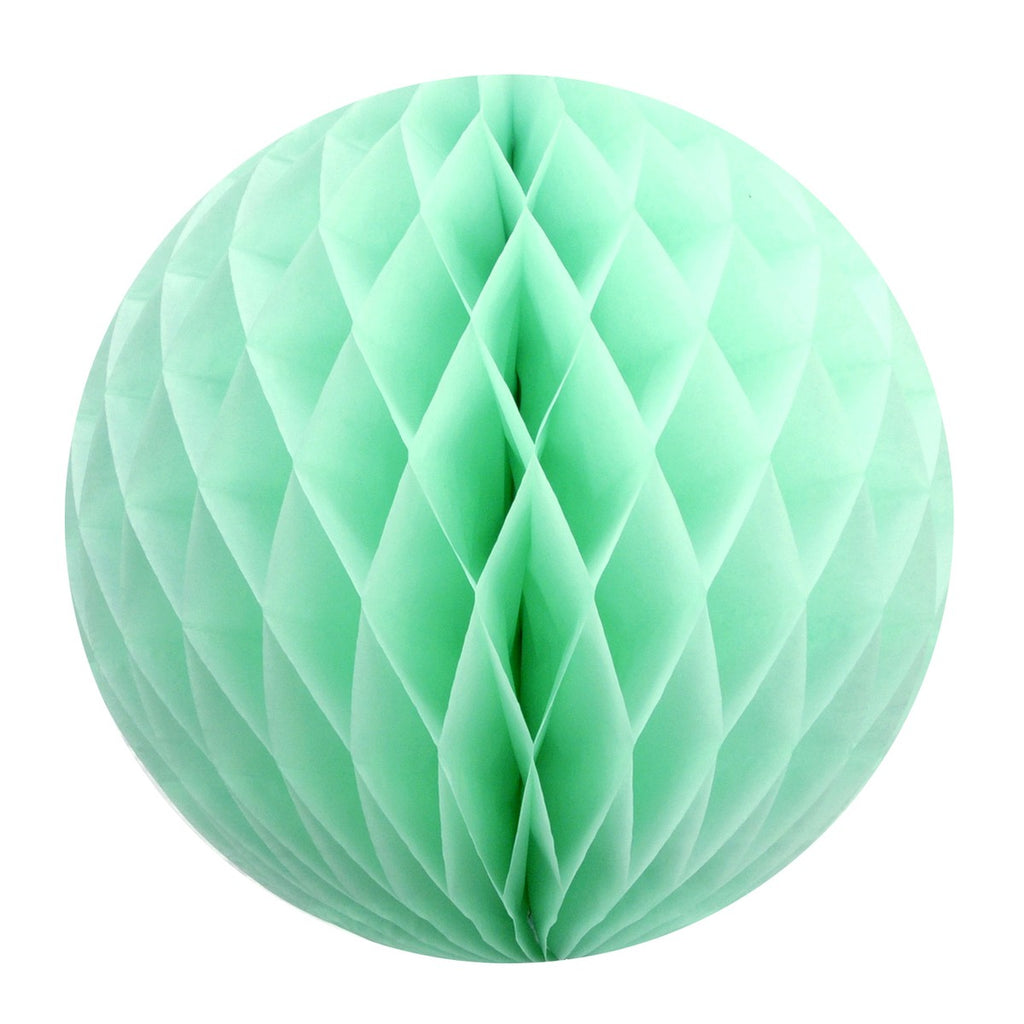 Mint tissue paper honeycomb ball
