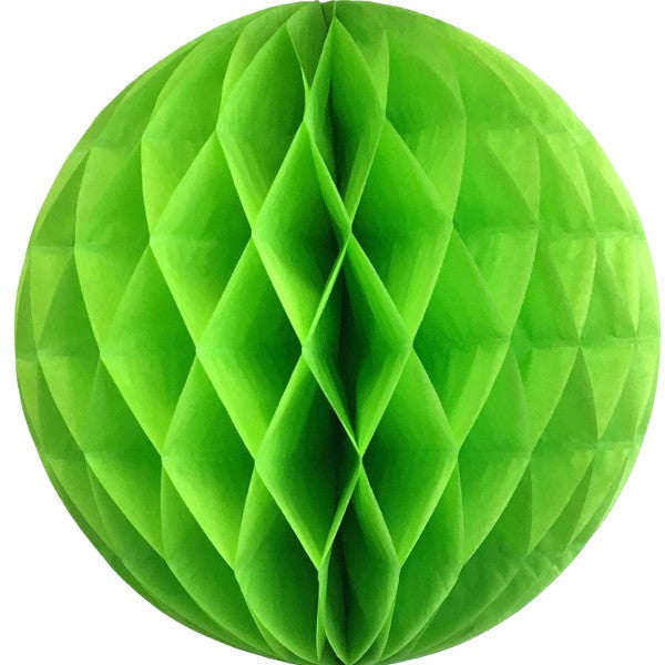 Lime green tissue paper honeycomb ball