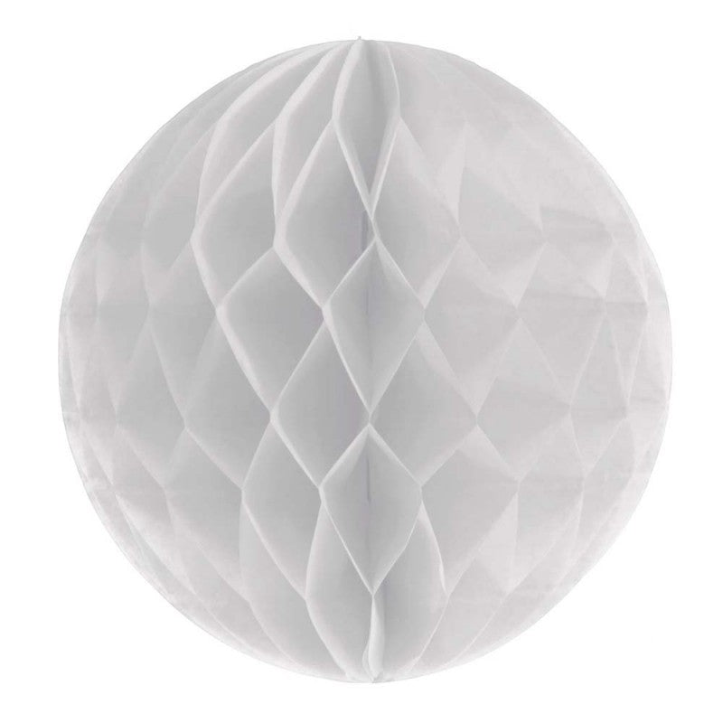 White tissue paper honeycomb ball