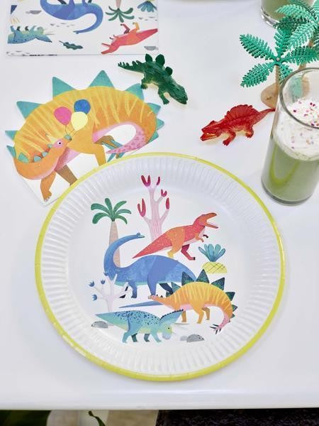 Pack of 8 Dinosaur plates