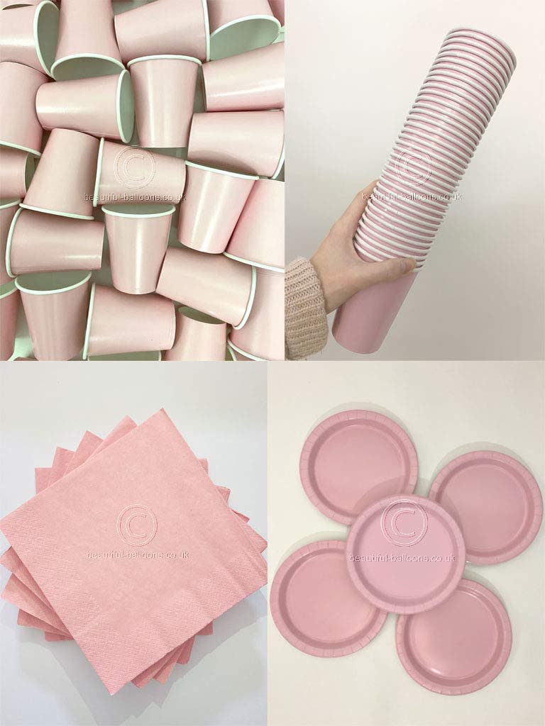 Pastel Pink Party Kit - Cups, Napkins and Plates! Complete Kit