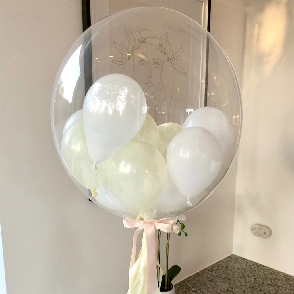 White and Ivory Clear Bubble Balloon