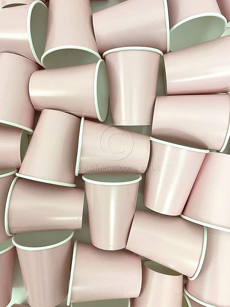 35 x Pastel Pink Paper Party Cups