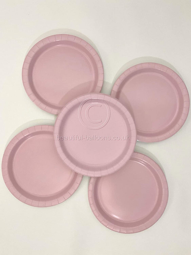 40 x Pastel Pink Paper Party Plates