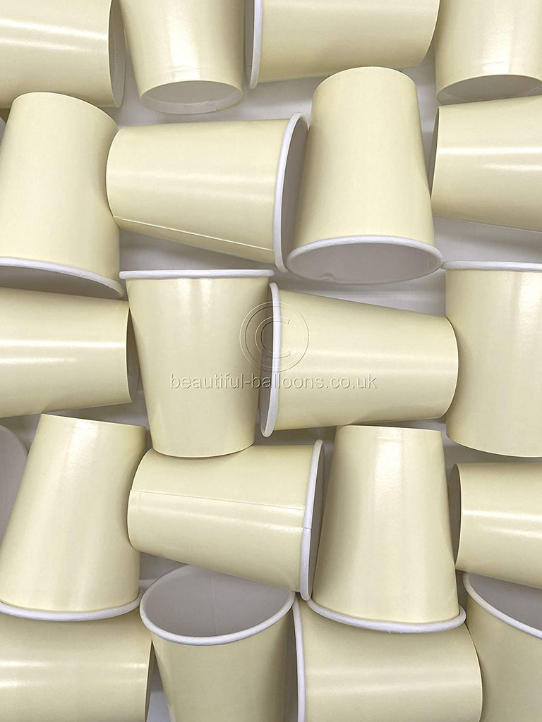 35 x Cream Party Paper Cups