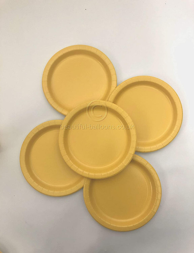 40 x Yellow Paper Party Plates