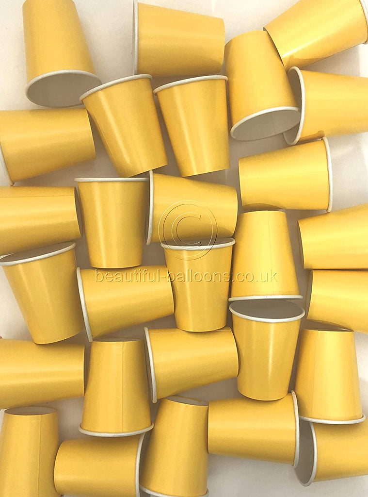 35 x Yellow Paper Party Cups