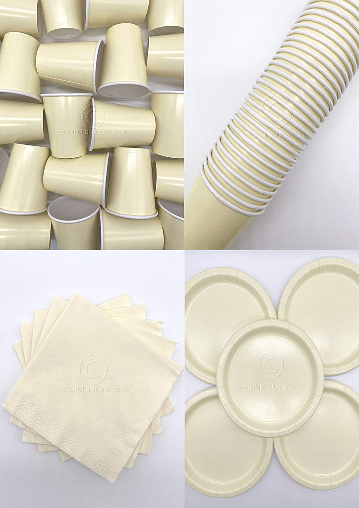 Cream Party Kit - Cups, Napkins and Plates! Complete Kit