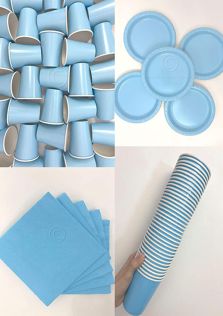 Baby Blue Party Kit - Cups, Napkins and Plates! Complete Kit