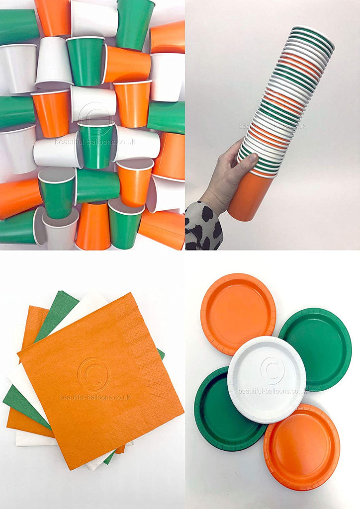 Irish Shade Range Party Kit - Cups, Napkins and Plates! Complete Kit