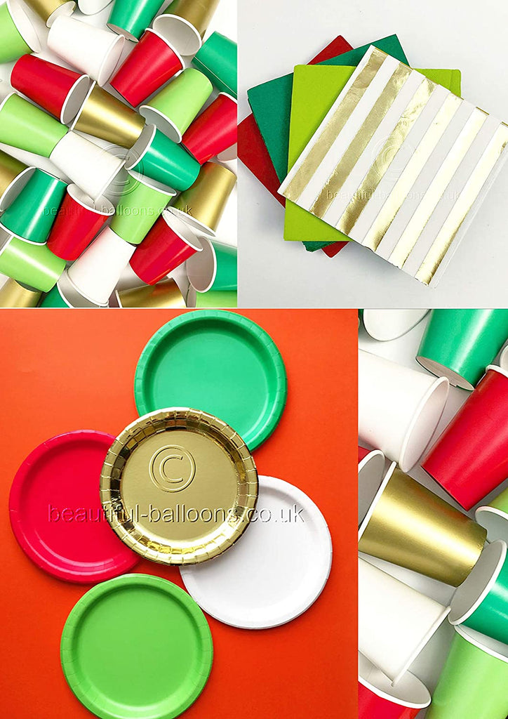 Festive Christmas Party Kit - Cups, Napkins and Plates! complete kit!
