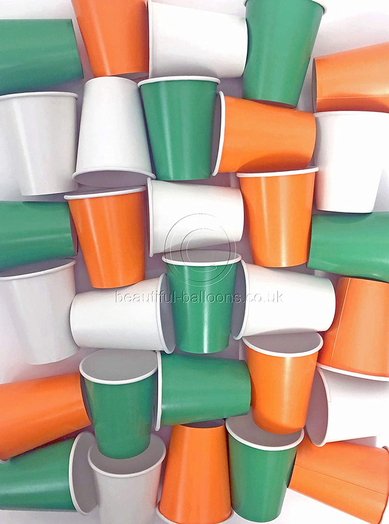 35 x Irish Shade Range Paper Party Cups - St Patrick's Day