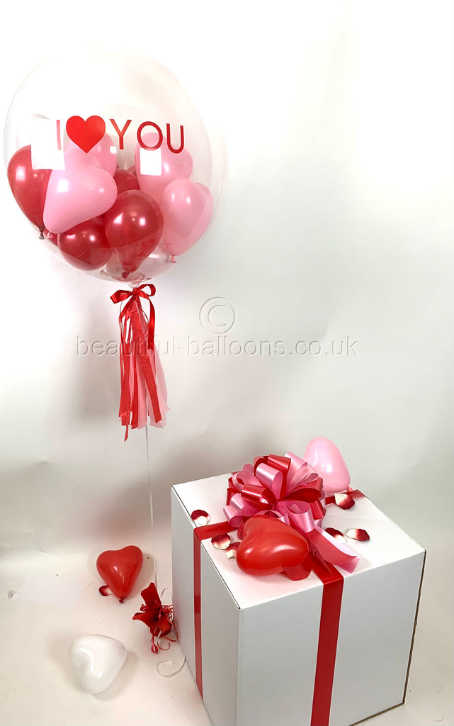 Valentines Bubble Balloon in a Box