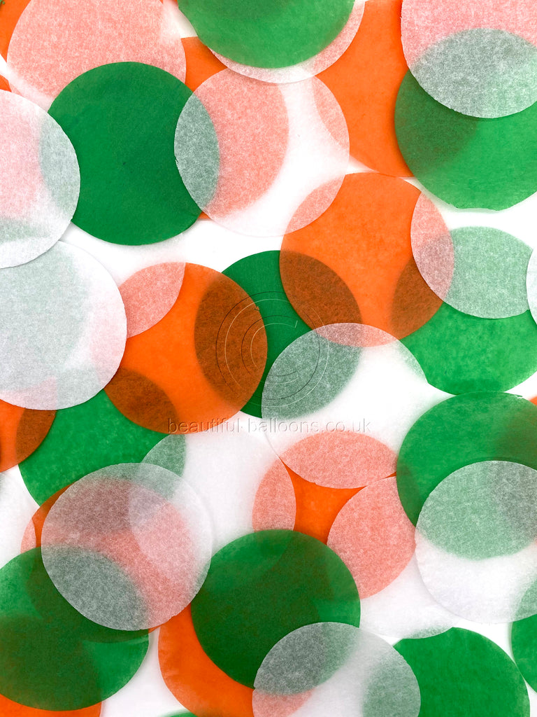 Irish Shade Range Tissue Paper Confetti - Green, White & Orange - St Patrick's Day!