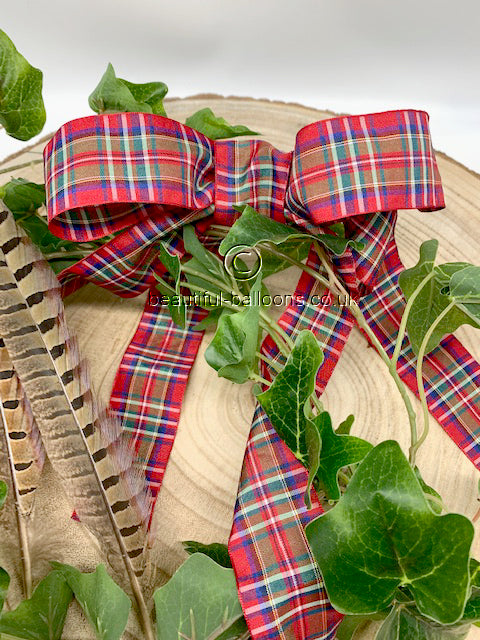 Red, Blue and Green Tartan Ribbon