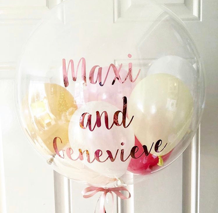 Personalised Name Bubble Balloon