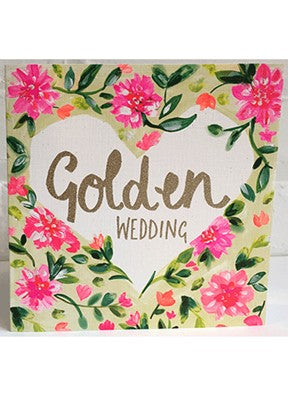Floral Golden Wedding Anniversary Card