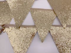 Gold Glitter Bunting 3m