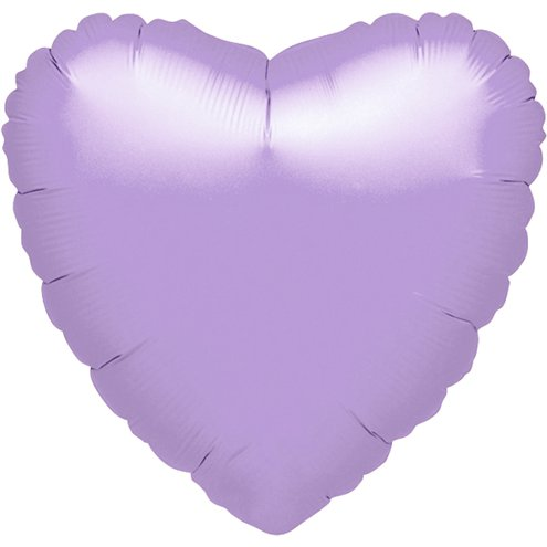 "Foil 18"" Heart in Lilac"