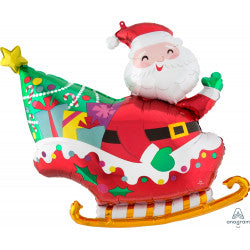 Santas Sleigh and Gifts Supershape