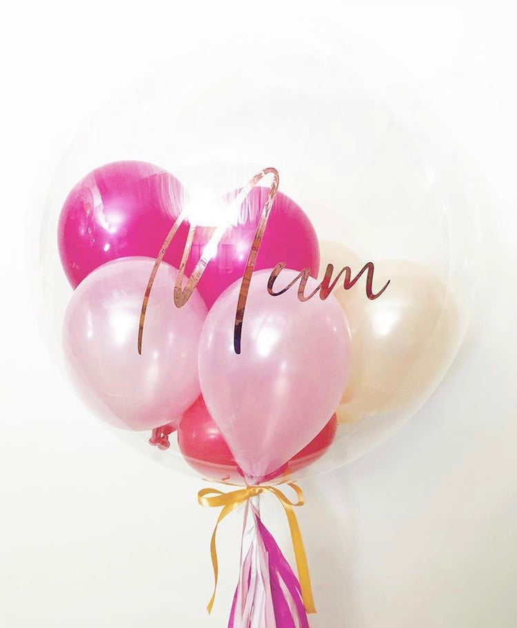 Pink Personalised Bubble Balloon