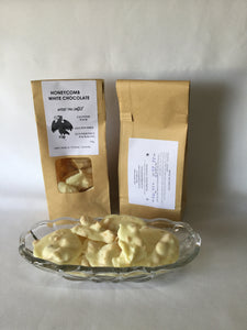 Wedge Tail Eagle Poo Shaped gluten free honey Comb White Chocolate 150 grams