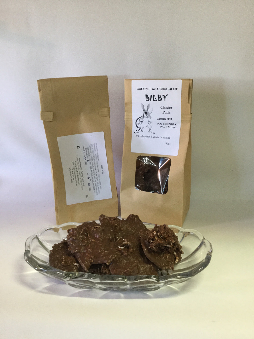 Bilby Poo Gluten Free coconut in milk chocolate 150