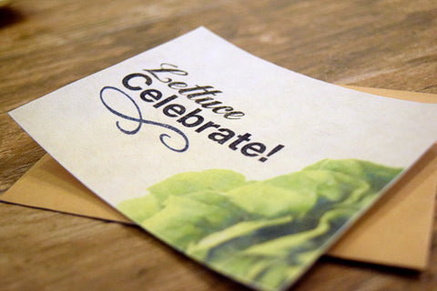 LETTUCE CELEBRATE (Set of 4 FreshCards & Envelopes)