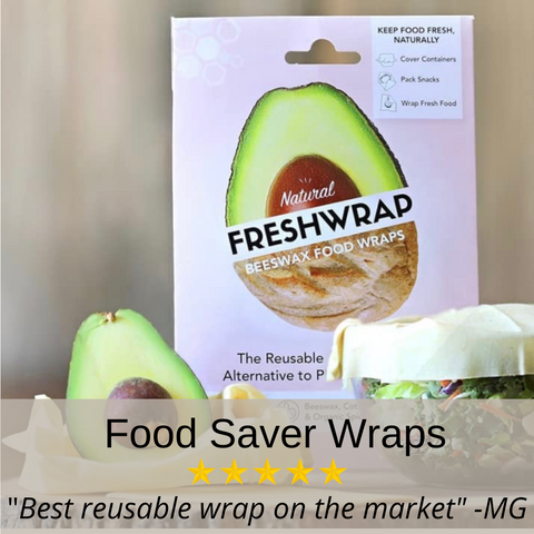 FRESHWRAP: Natural & Reusable Food-Saver Wraps