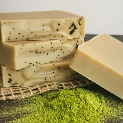 matcha tea vegan soap