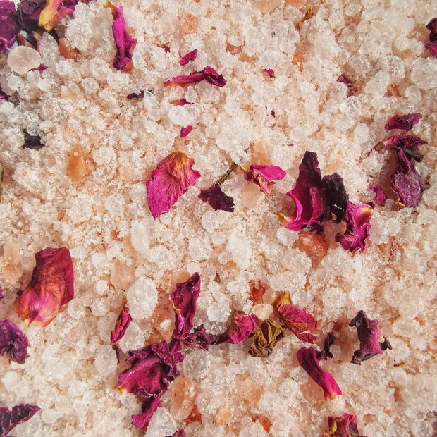 bath salts natural vegan rose petals luxury