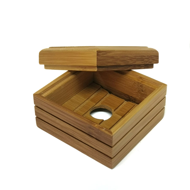 bamboo soap dish natural wood travel box