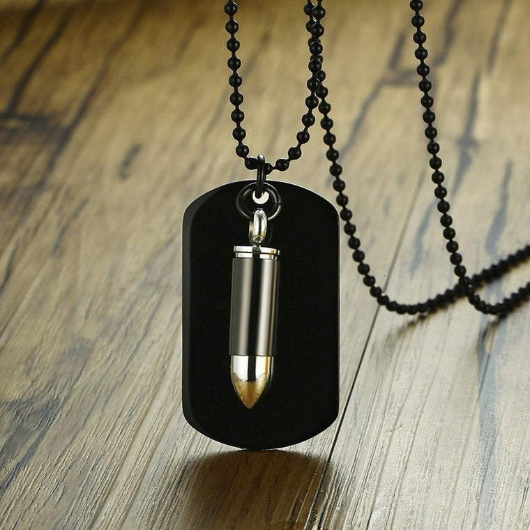 Men's Stainless Steel Bullet Necklace