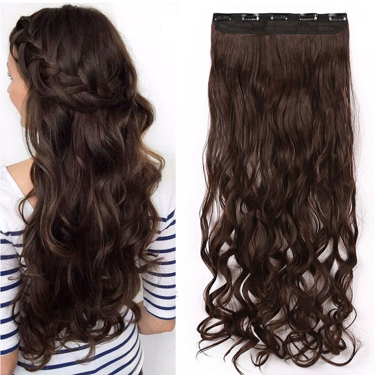 Curly Clip In One Piece Hair Extensions
